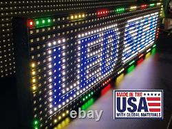 100 x 6.5 (8 ft) LED Sign Full Color Double 51.5 each side (Made in USA)
