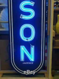 11ft TALL FULL SIZE HUDSON CUSTOM MADE NEON SIGN DOUBLE SIDED Gas & Oil