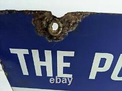 1930-40s Pure Oil Company Credit Cards Honored Porcelain Double Sided Sign- Gas