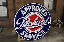 1930s Packard Approved Service Double-Sided Porcelain Sign by Walker & Co
