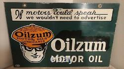 1946 Oilzum If Motors Could Speak Double Sided Sign
