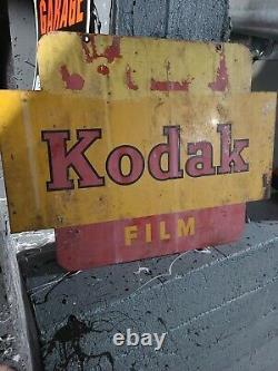 1950's Vintage Kodak Films Double Sided Promotional Sign