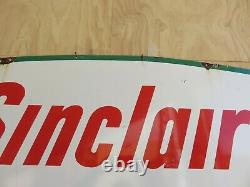 1961 Sinclair Dino Double Sided Porcelain Gas And Oil Sign 60 x 43 Nice Color