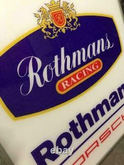1980s Porsche official dealership Rothmans Racing illuminated doubled sided sign