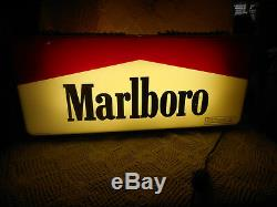 1995 MARLBORO LIGHTED SIGN Double SIDED HANGS 28x5x12 Cigarettes Phillip Morris