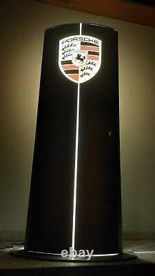 2000's Porsche official dealer illuminated double side sign