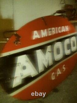 Amoco Sign Double Sided 8ft