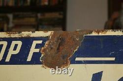 Antique 1940's Perry's PRIDE Ice Cream Porcelain Double Sided Sign Tuscaloosa Al