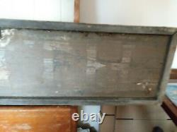 Antique 19th Century MILLINERY Wooden Trade Sign BlackSmith Double Sided Sign