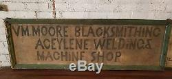 Antique Double Sided Blacksmith Welding Trade Sign