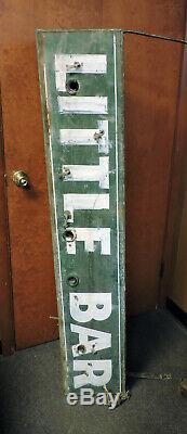 Antique Large Iconic Original Neon Little Bar Sign Double Sided Covington Ky