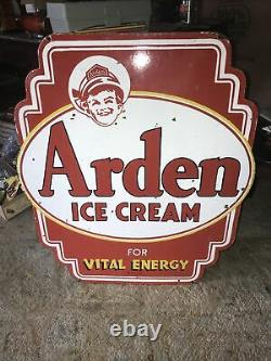 Arden Ice Cream Double Sided Porcelain Sign
