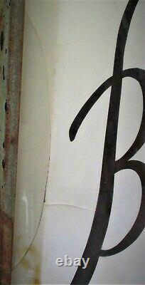 Blatz Beer Large Double Sided Lighted Outdoor Advertising Sign 45.25 x 39