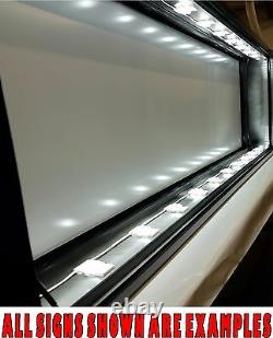 Box Sign 4' x 6' LED Lit, Do It Yourself FRAME KIT for Business / Residential