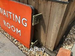 British Railways North Eastern waiting room double sided sign