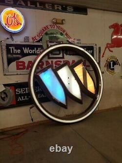 Buick Dealership Sign lighted large vintage double sided