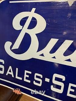 Buick Sales Service Double Sided Porcelain Enamel Sign HUGE gas station, oil