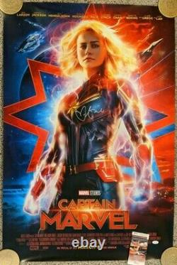 Captain Marvel Double-Sided Theatrical poster Signed by Brie Larson with JSA
