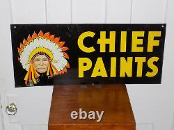 Chief Paints Double Sided Store Tin Sign