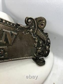 Coca-Cola 5 Cent Cash Register Topper Sign Double Sided Ornate