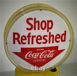 Coca Cola Original Rotating Lighted Double Sided Halo Advertising Sign-VERY NICE