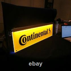 Continental Tires Double Sided Lighted Shop Dealer Sign Light Advertisement LOOK