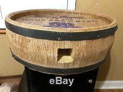 Crown Royal Double Sided Whisky Barrel Top Sign Man Cave Decor Whiskey Head