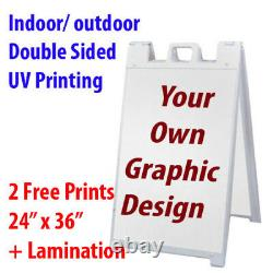 Custom Print A Frame Signicade Double Sided Indoor outdoor Business Road Sign