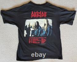 Deicide Once Upon The Cross Australian Tour 1995 Signed Vintage T-Shirt