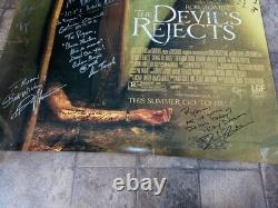 Devil's Rejects Original Double Sided Poster 27x40 Signed by 20 Adult language