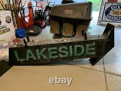 Double Sided Neon Arrow Sign Lakeside Cabin Resort Lake House Bar Garage Rare