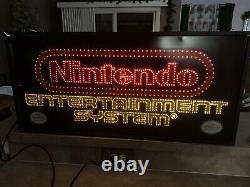 Double Sided Nintendo NES M36B Fiber Optic Store Display Sign