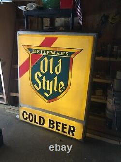 Double Sided Old Style Cold Beer Vintage large Outdoor Bar Sign