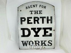 Double Sided Scottish Enamel Advertising Sign For Dyers, C 1890's