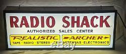 Double sided illuminated Radio Shack Sign