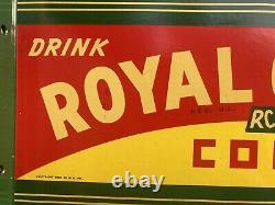 Drink Rc Royal Crown Cola Double Sided Flange Porcelain Sign Soda Pop Man Cave