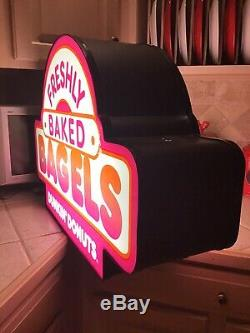 Dunkin Donuts Lighted Double-Sided Sign