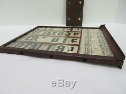 Earlyrare Visible Gas Pump Station Double Sided Price Sign With Flange Mount