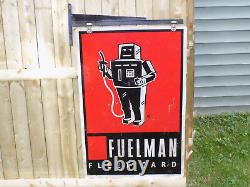 Fuelman Fleet Card Double Sided Sign with Hanging Bracket