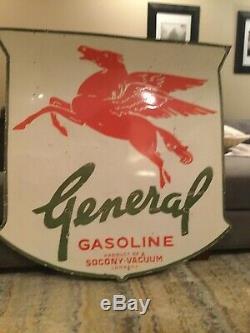 General Gasoline Double Sided Porcelain Sign