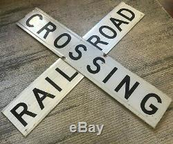 Genuine Railroad Crossing Sign-Double Sided R&R Sign 48 x 9