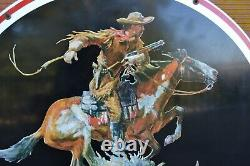 Huge 38 Vintage Winchester Western Double sided Metal Dealer sign Stout Sign Co