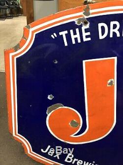 JAX BEER DOUBLE SIDED PORCELAIN SIGN! Vary Rare