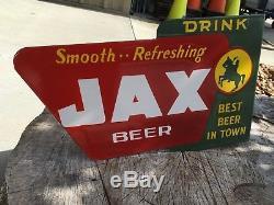 JAX Beer Porcelain Double Sided Flange Sign