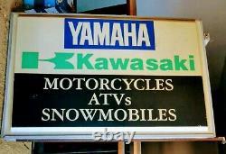 KAWASAKI YAMAHA DEALER SIGN 4x6 DOUBLE SIDED MOTORCYCLE ATV SNOWMOBILE