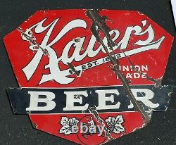 Kaiers Beer DS Double Sided Porcelain Advertising Sign Mahanoy City Pa Horse
