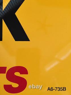 Kodak Metal Double Sided Advertising Sign, Vintage, Rare, Near Mint 20 X 22