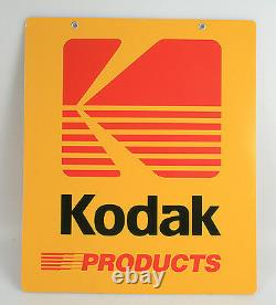 Kodak Porcelain Double Sided Advertising Sign, Vintage, Rare, Near Mint 20 X 24