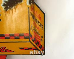 Kodak Verichrome Vintage Film Advertising Metal Porcelain Sign, Double Sided
