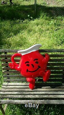 Kool-Aid Man Double Sided 3D VINTAGE Advertising Sign Old County Store 22x 22